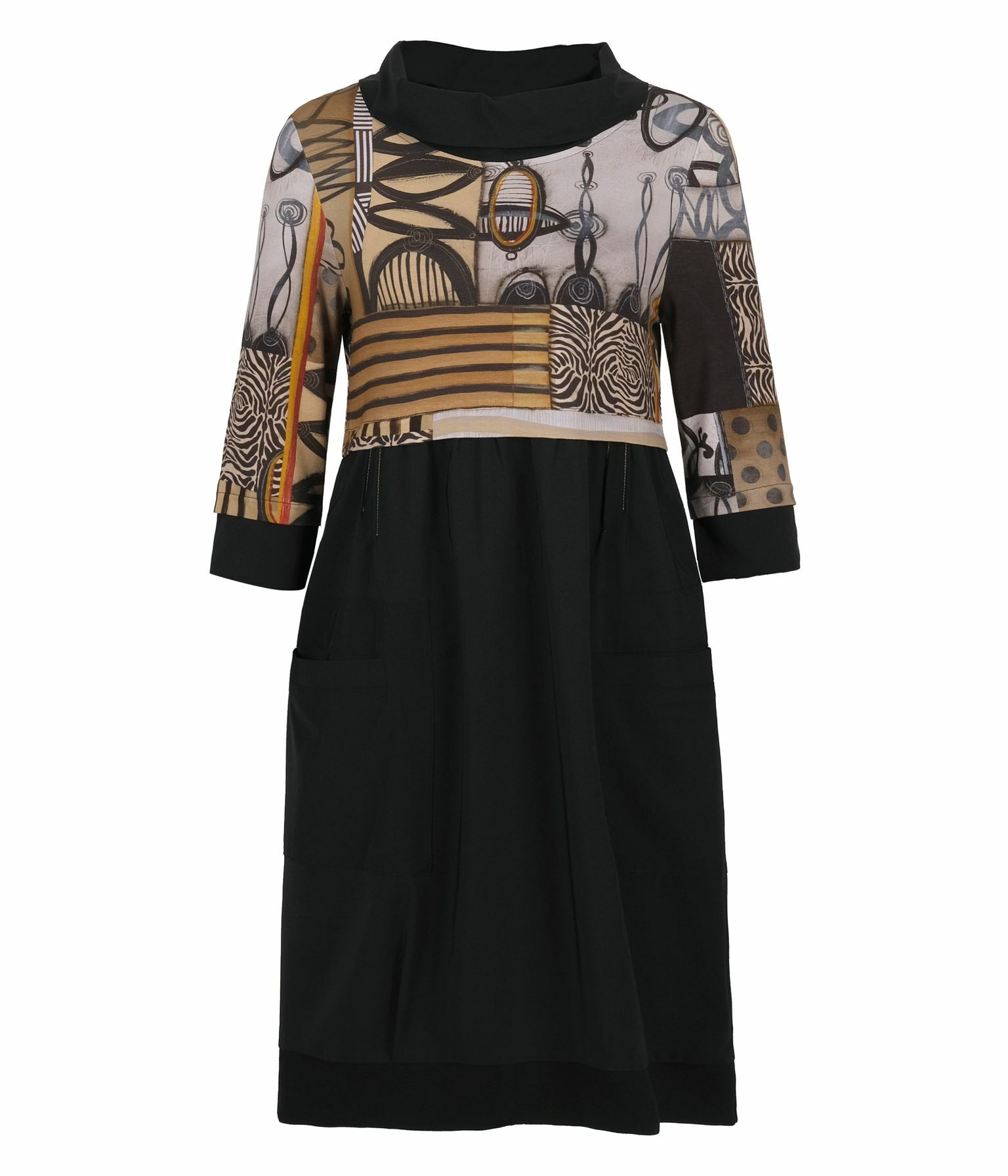 Simply Art Dolcezza: Black Butterfly Poetic Metaphor High Waisted Art Dress