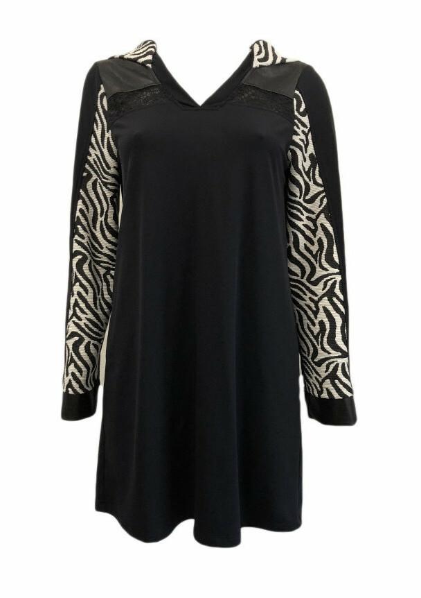 Maloka: Sporty Zebra Hooded Tunic/Dress