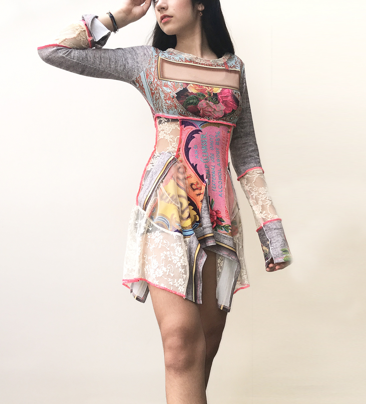 IPNG: Label Longings Pink Rose Illusion Gypsy Tunic IPNG_LBSHG-087