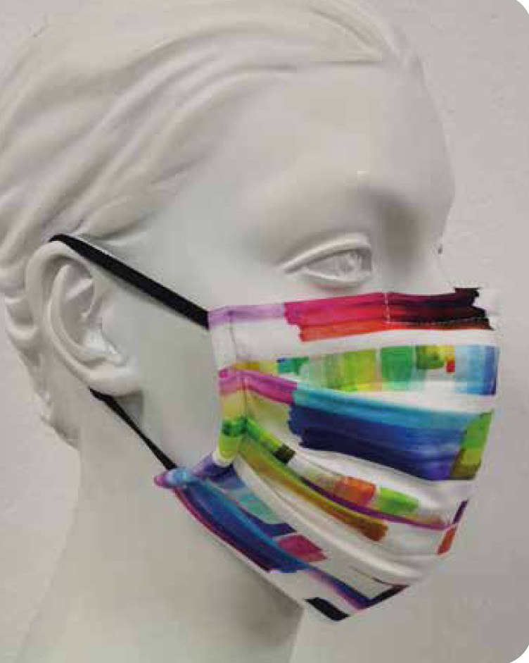 Maloka: Monet's Watercolor Garden Abstract Art Mask (Filter Included!)
