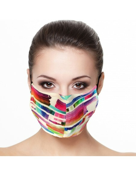 Maloka: Monet's Watercolor Garden Abstract Art Mask (Filter Included!) MK_IMP_PLEAT_MASK