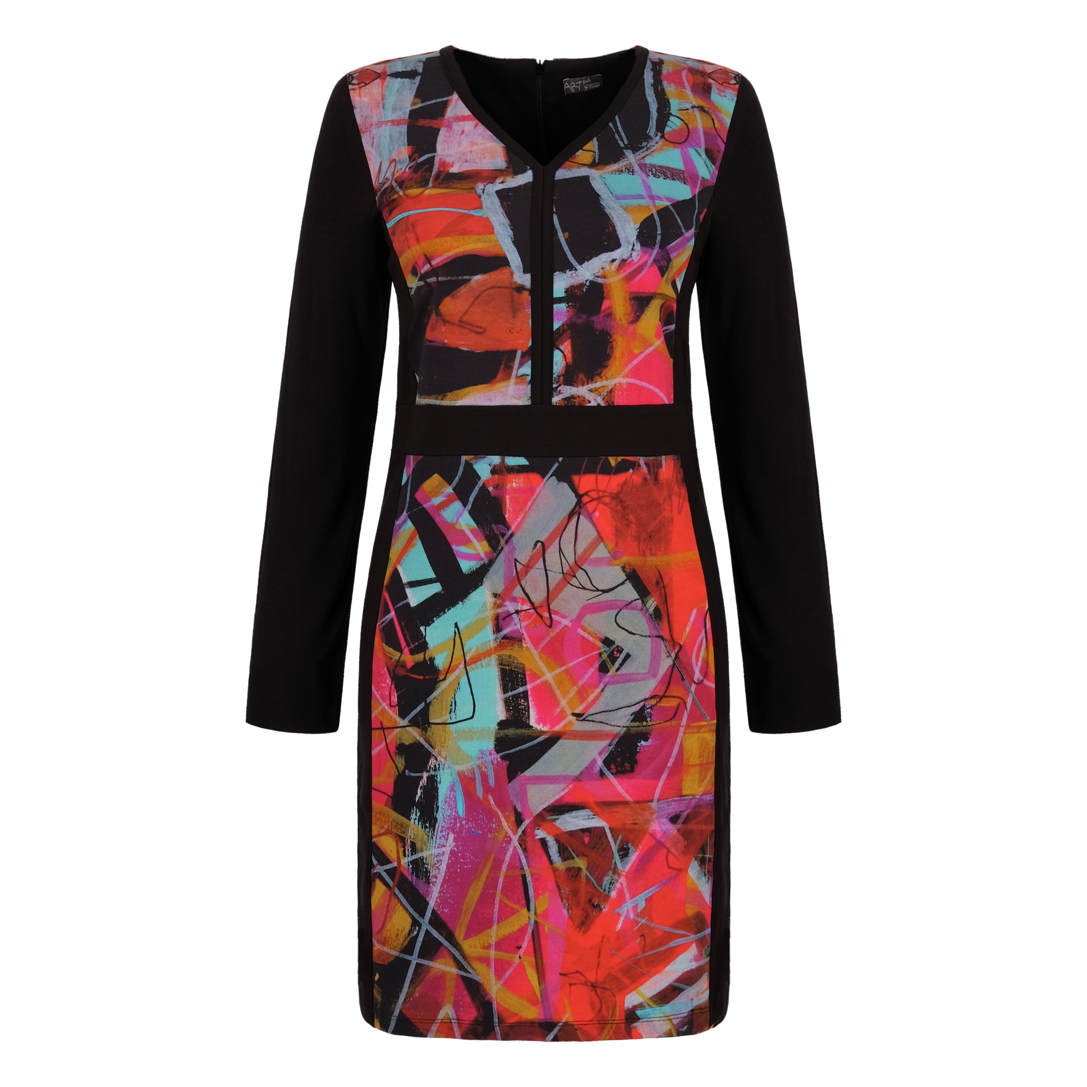 Simply Art Dolcezza: Red 3 Graffiti Abstract Art Fitted Dress Dolcezza_simplyart_70625
