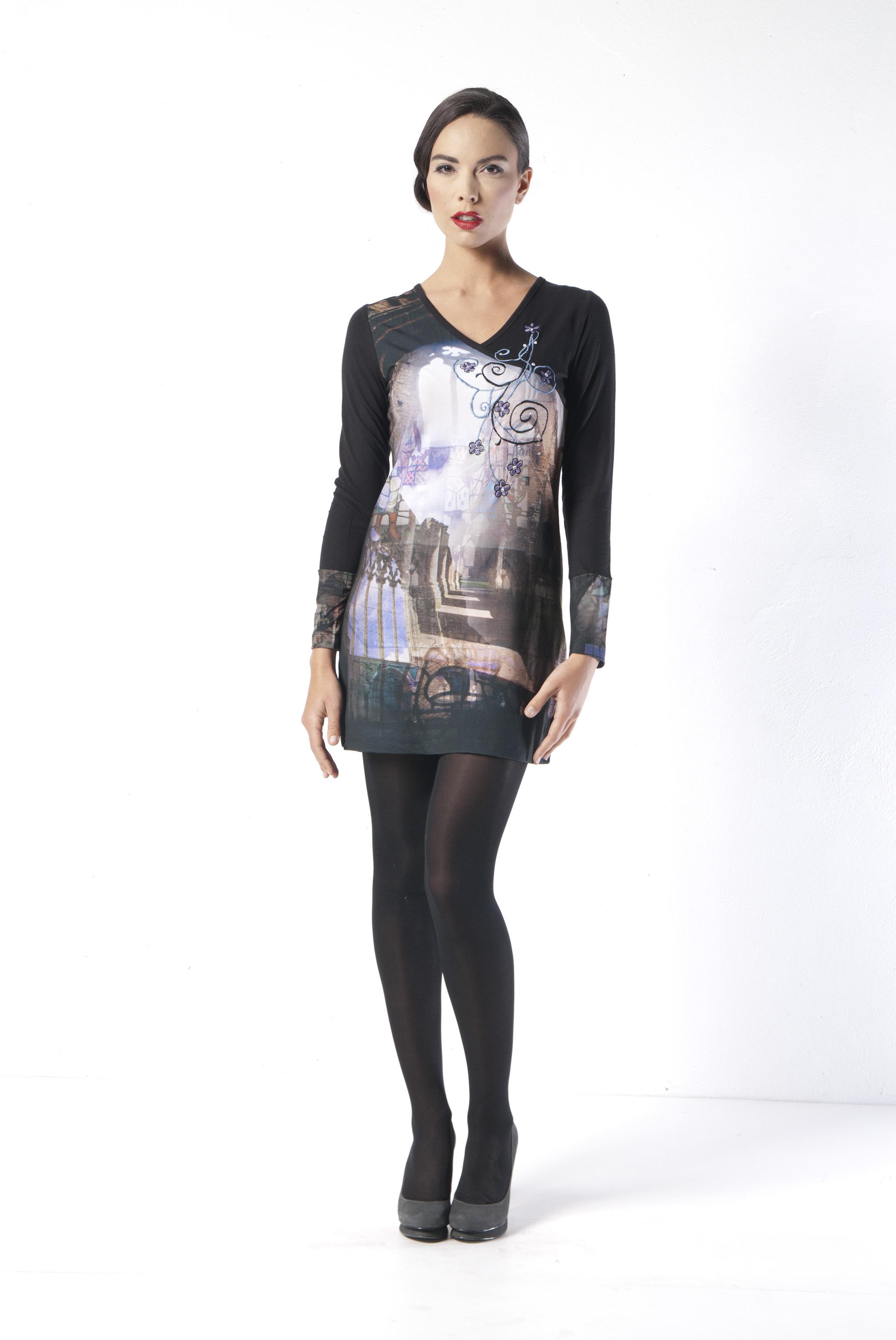 Les Fees Du Vent Couture: Notre Dame Cathedral Mini Dress/Tunic LFDV_887724