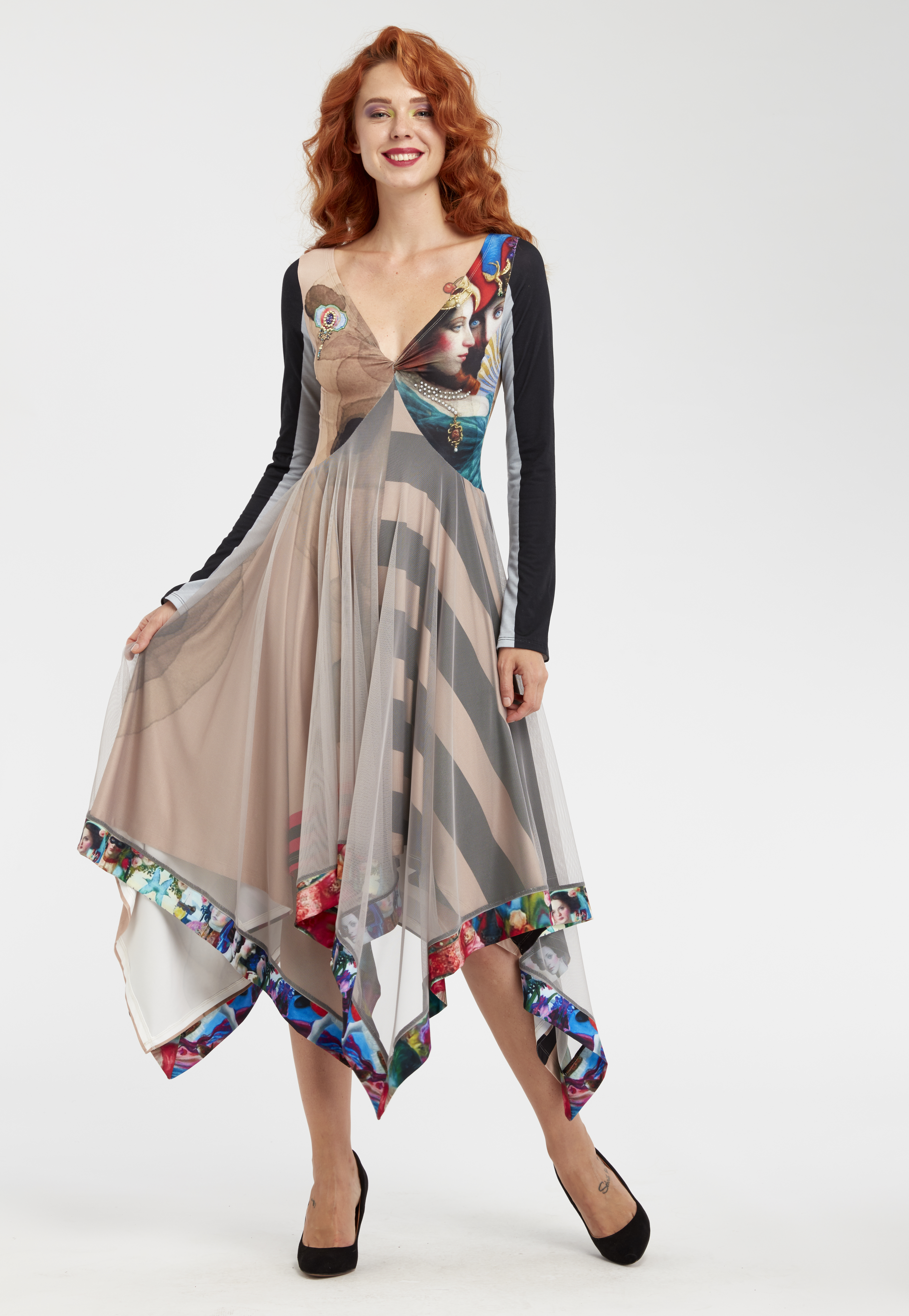 IPNG: Who Is The Woman Behind This Four Corner Illusion Dress (Some Ship Immed, 1 Left!) IPNG_WIDFC-003