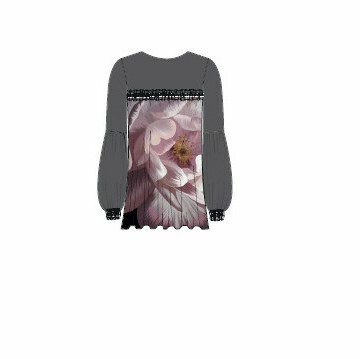 Paul Brial: Dreaming Of Blush Roses Tunic