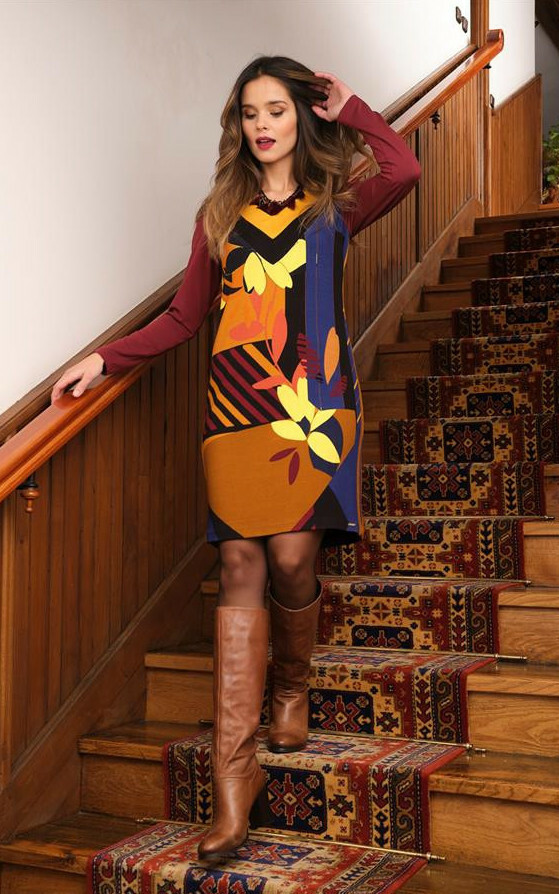 Paul Brial: Mansion Inspiration Abstract Art dress PB_INSPIRATION