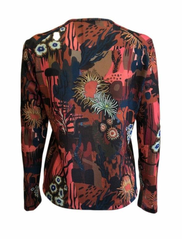 Maloka: Sedona Rock Abstract Art Buttoned Cardigan (More Colors!)