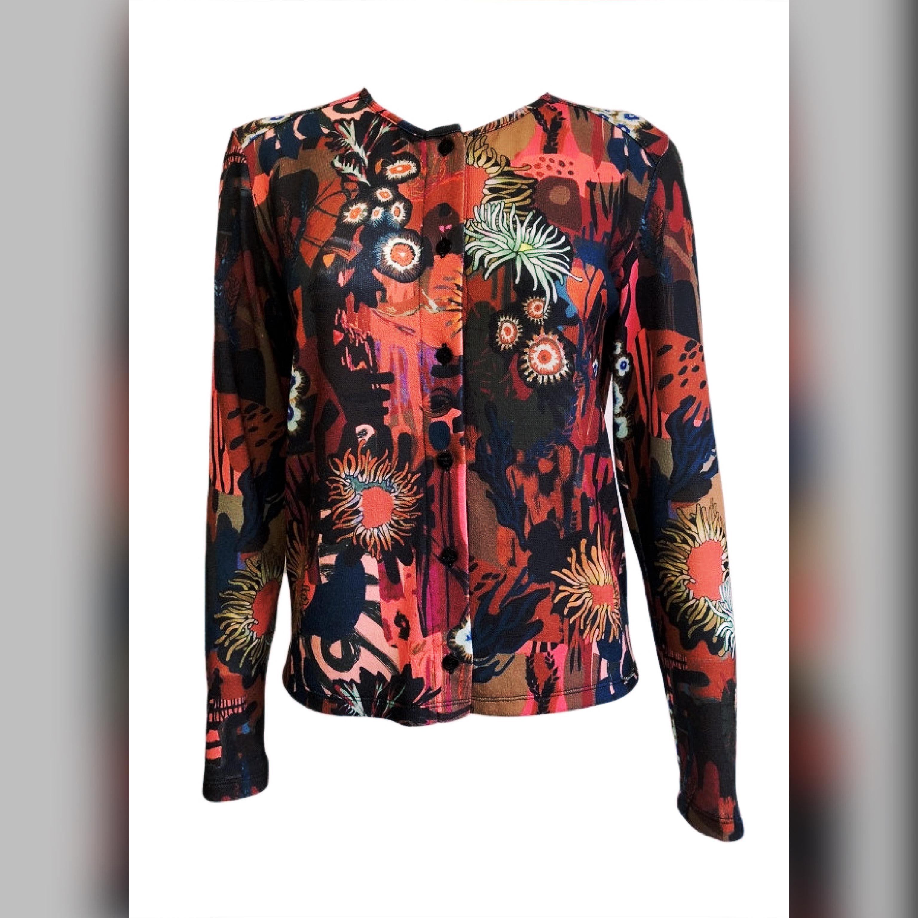 Maloka: Sedona Rock Abstract Art Buttoned Cardigan (More Colors!) MK_ELGA