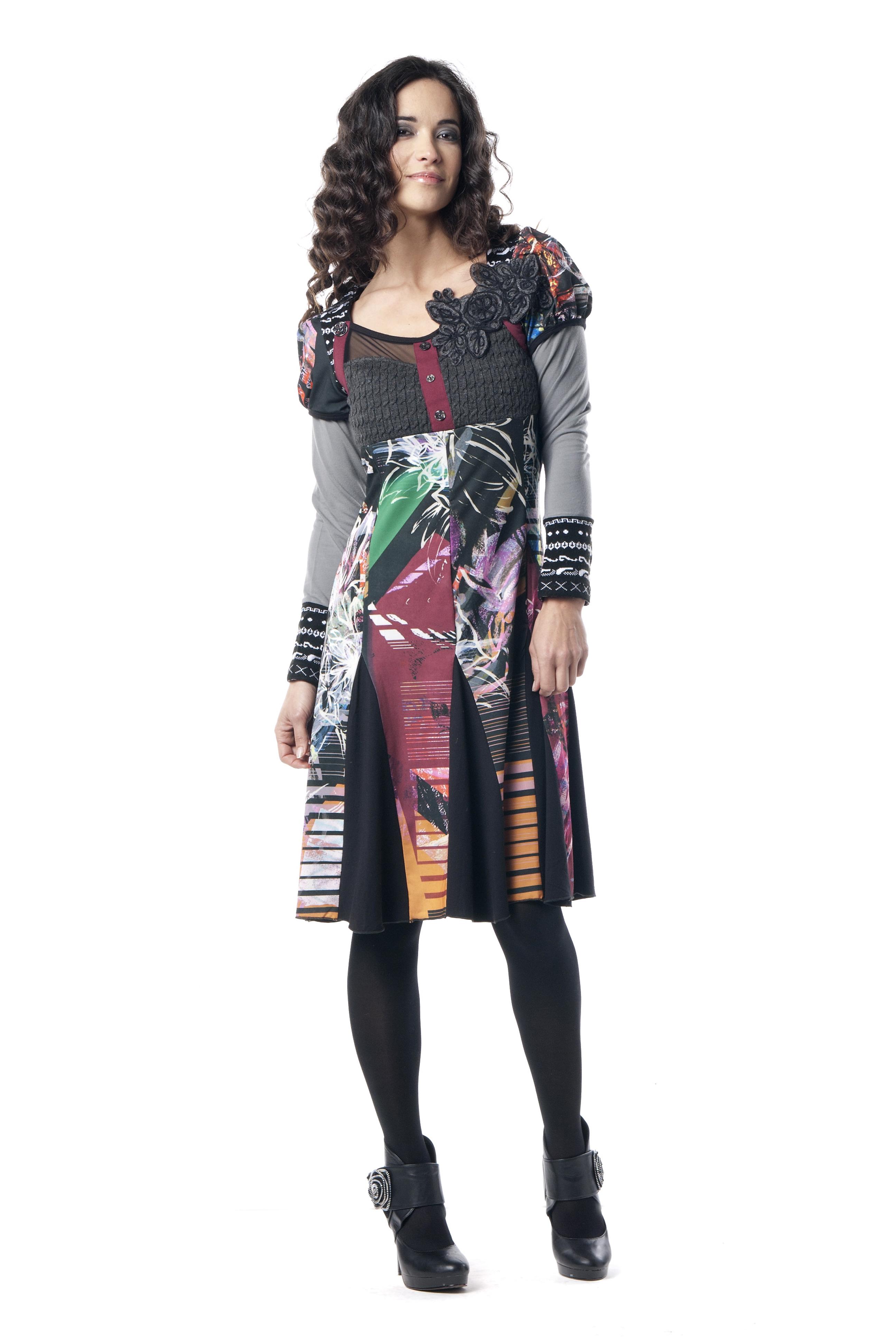 Les Fees Du Vent Couture: Femme Extase Color Block Dress LFDV_887401_N1