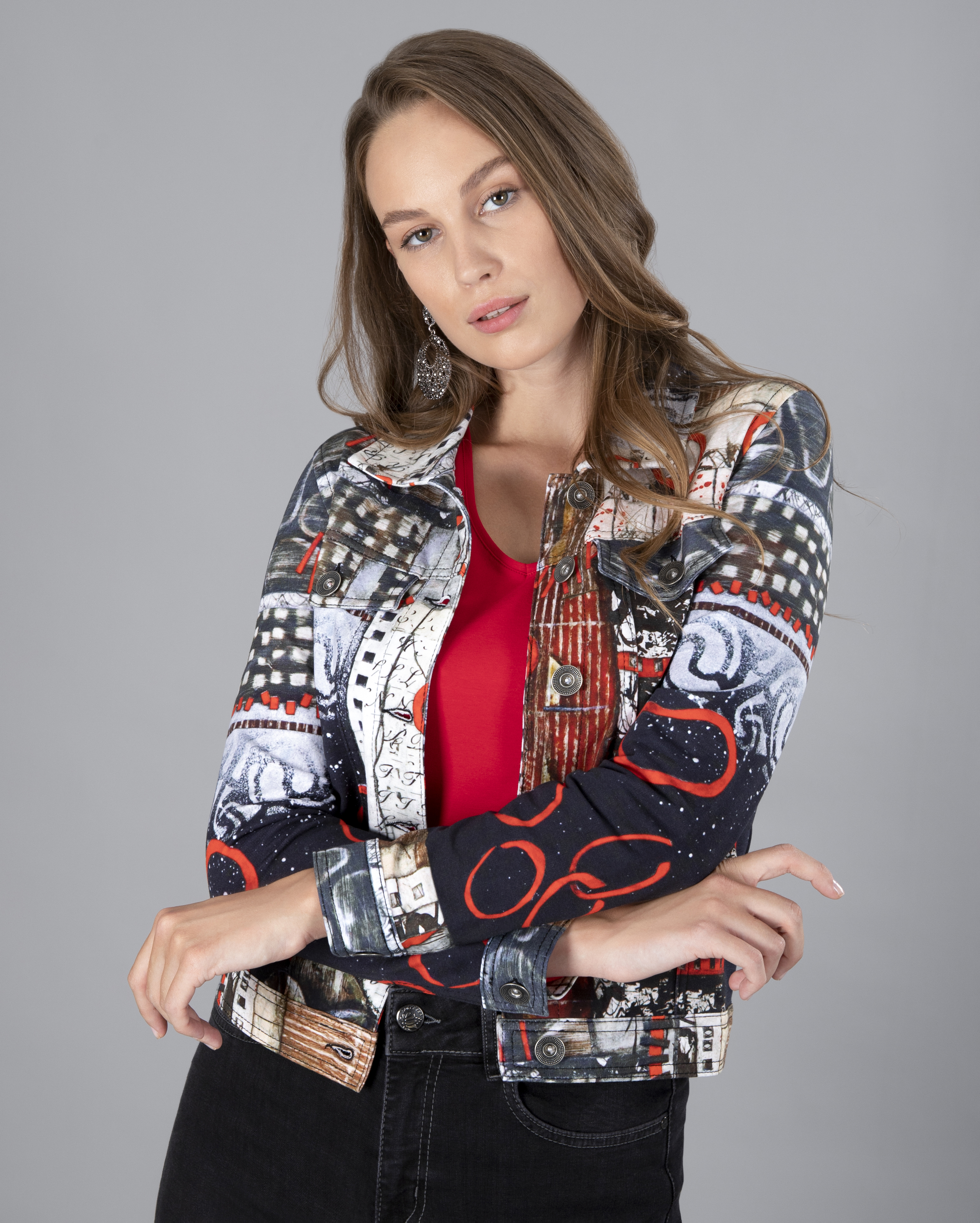 Simply Art Dolcezza: Rising Up In Color Soft Denim Jacket DOLCEZZA_SIMPLYART_70717