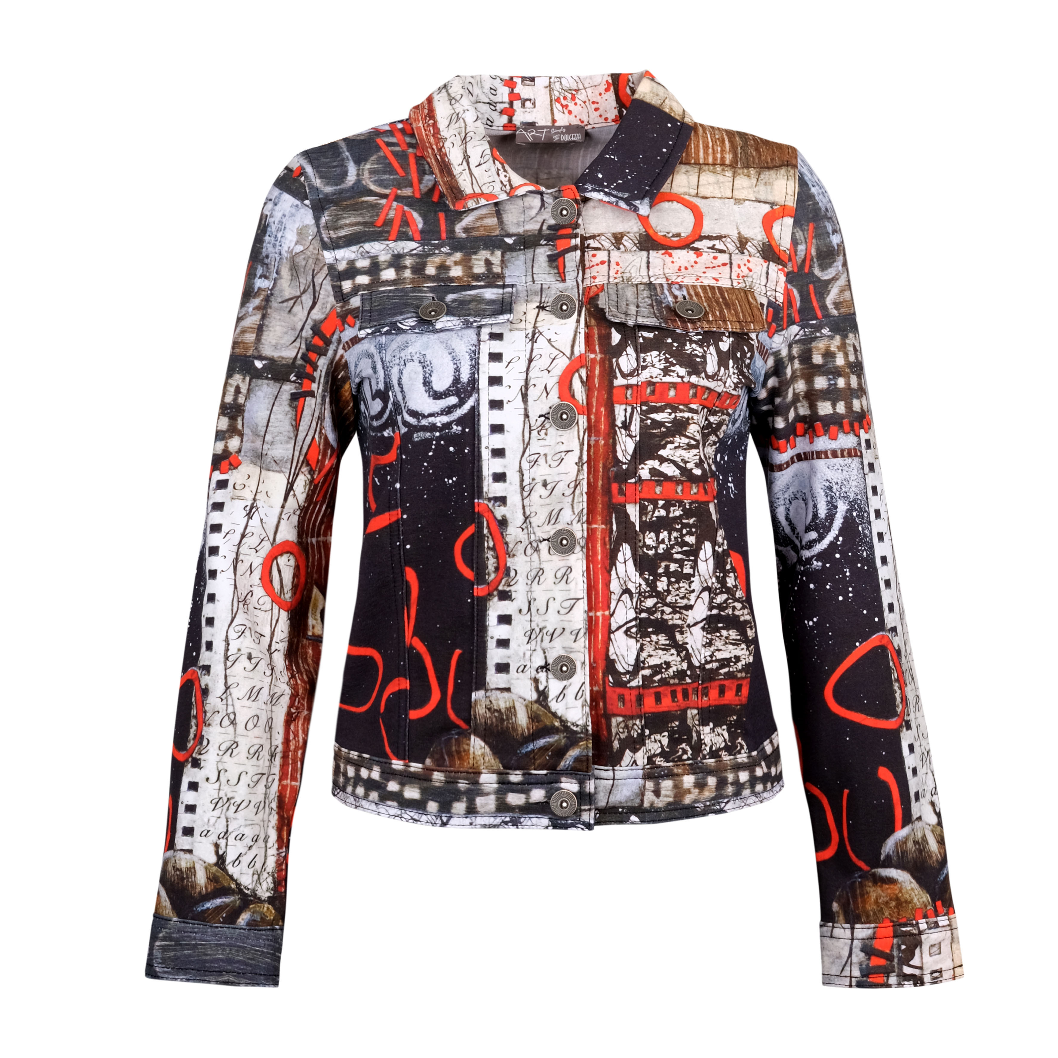 Simply Art Dolcezza: Rising Up In Color Soft Denim Jacket