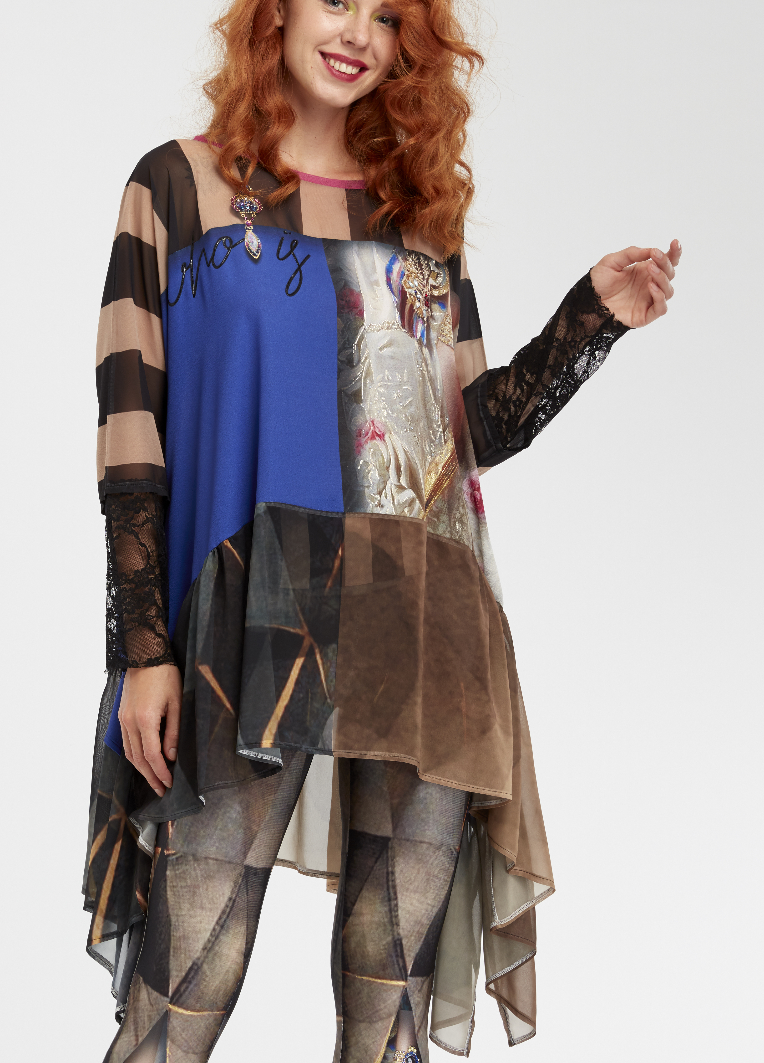 IPNG: Who Is The Woman Behind This Asymmetrical Illusion Tunic IPNG_WITU-013