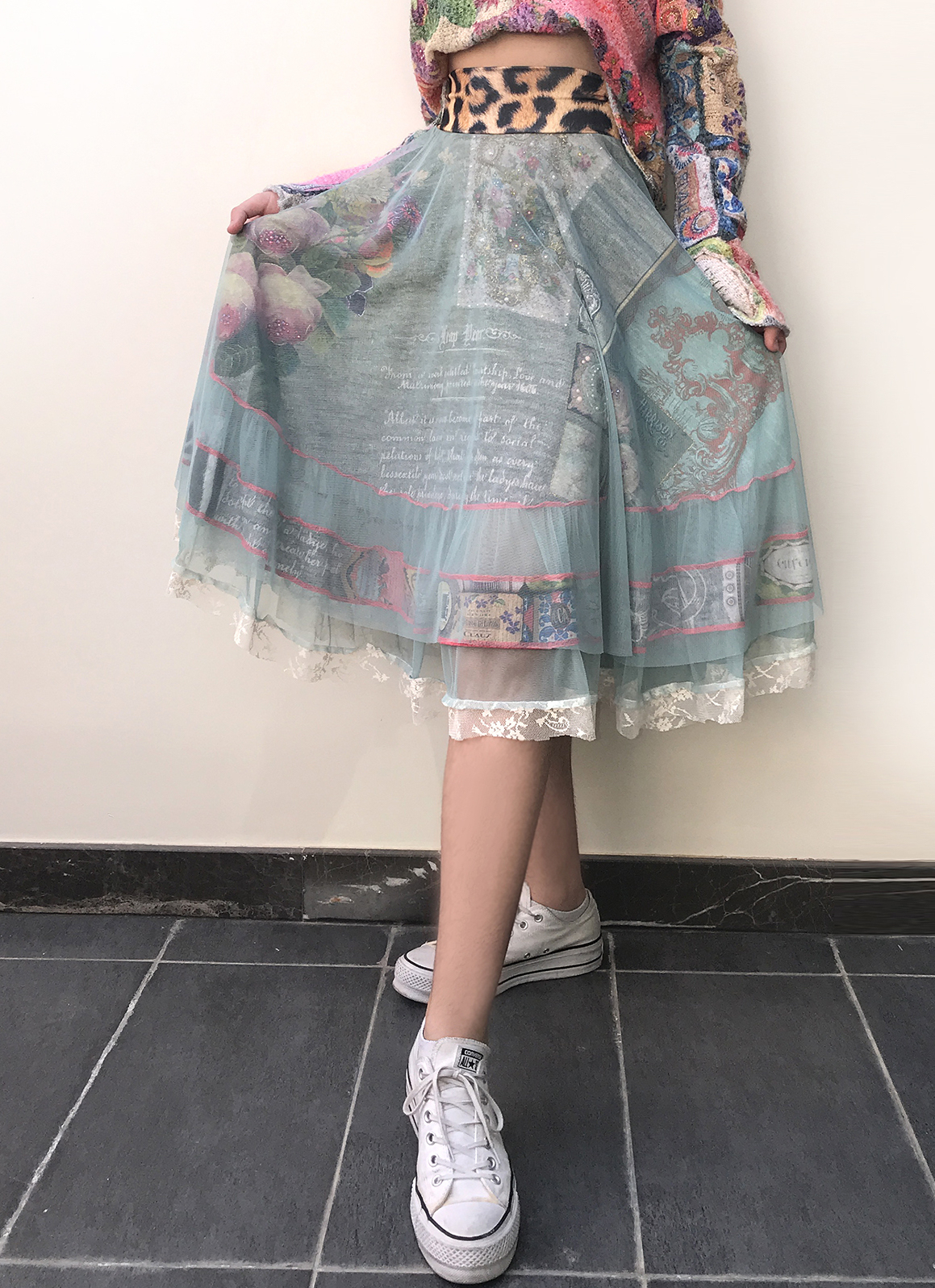 IPNG: Label Longings Layered Inscripted and Jeweled Illusion Skirt (Some Ship Immed!) IPNG_LBSKS-069