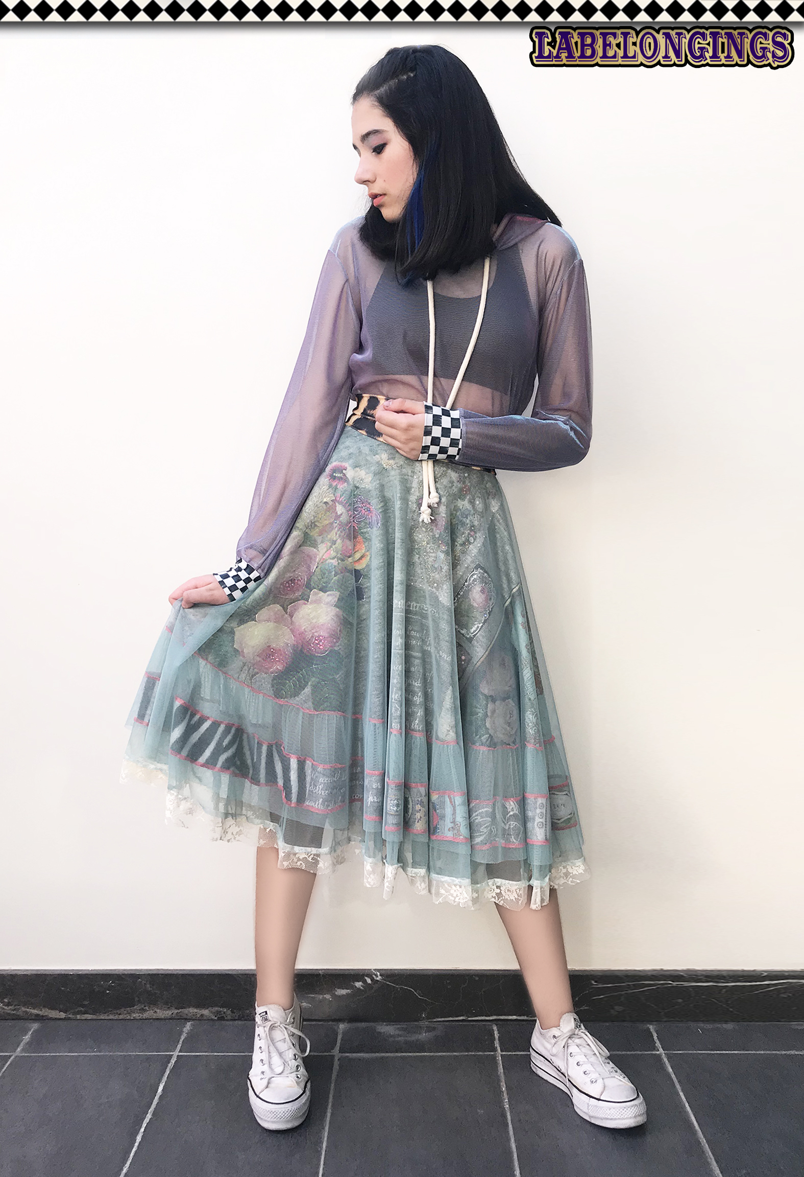 IPNG: Label Longings Layered Inscripted and Jeweled Illusion Skirt (Some Ship Immed!)