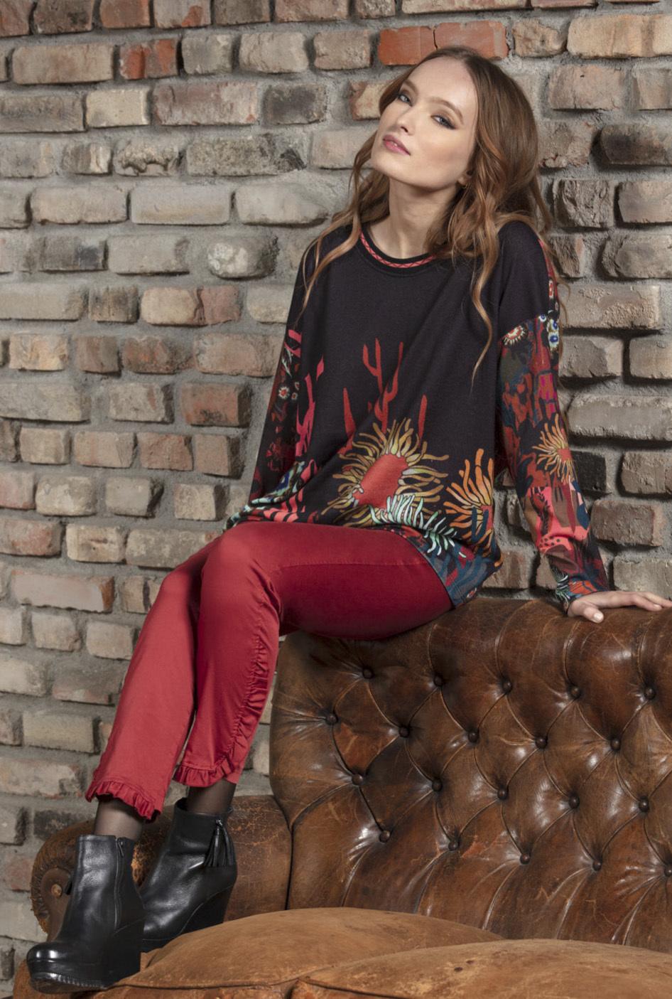Maloka: Sedona Rock Abstract Art Sweater (Few Left!)