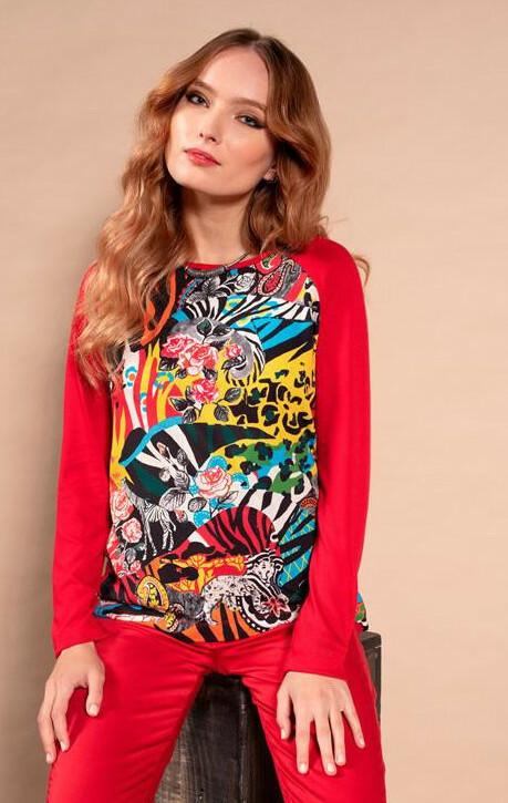 Maloka: Tigress Rosette Abstract Art Sweatshirt MK_GIANNA