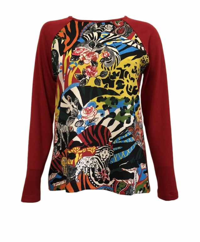 Maloka: Tigress Rosette Abstract Art Sweatshirt