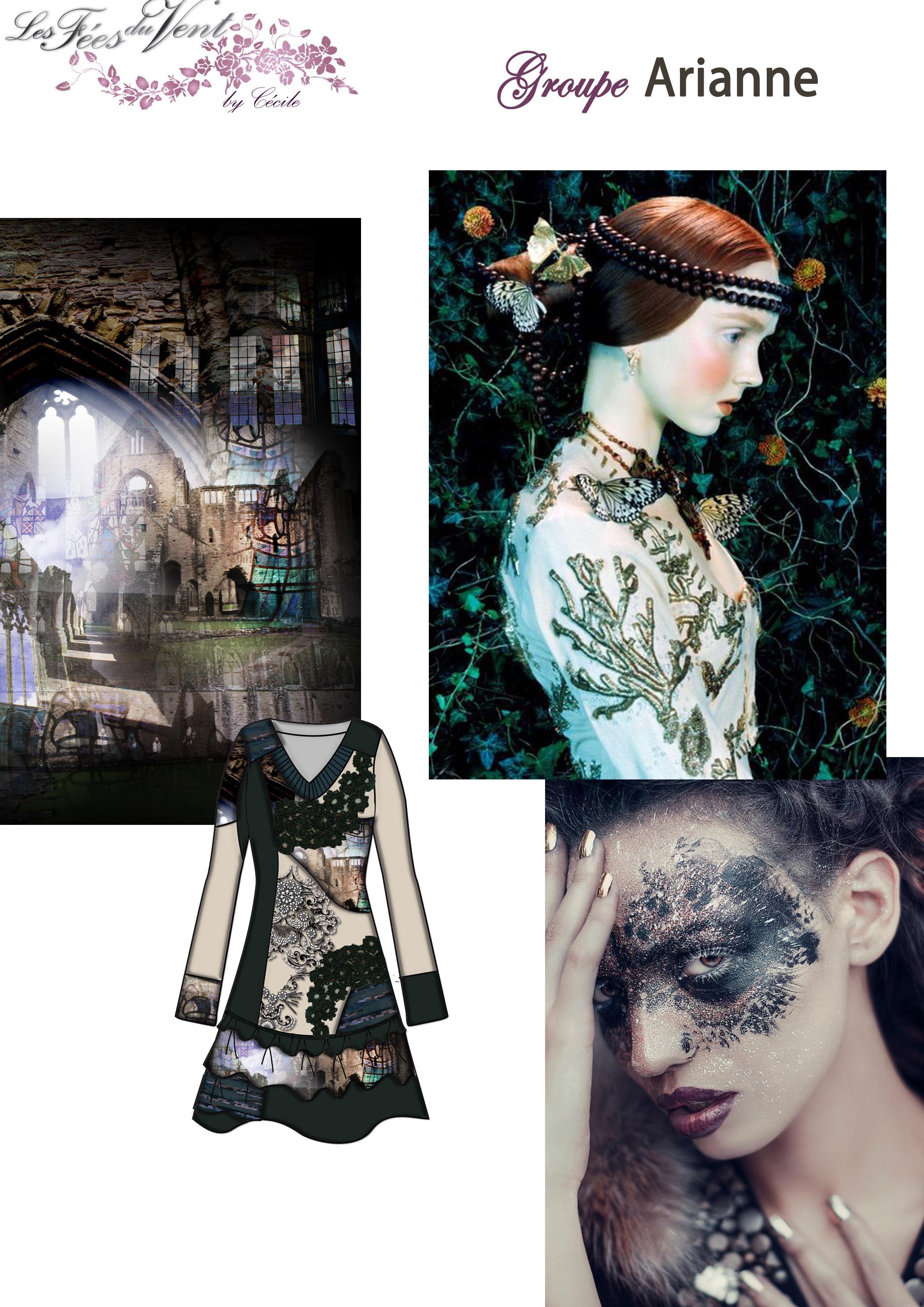Les Fees Du Vent Couture Collection Lacey Fringe Dress