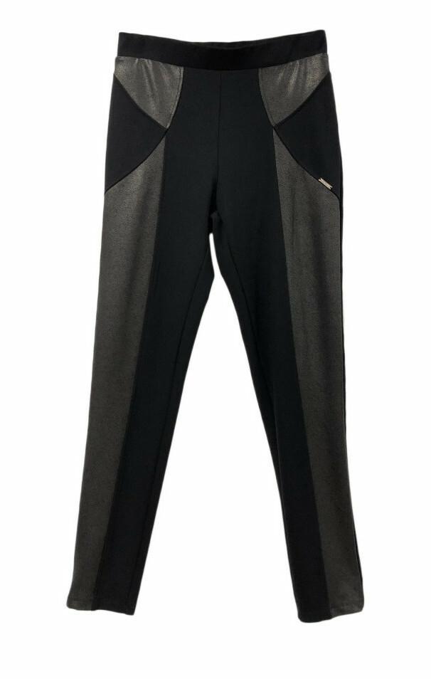 Maloka: Black On Black Vegan Leather Ponte De Roma Pants (More Colors!) MK_DENILLA