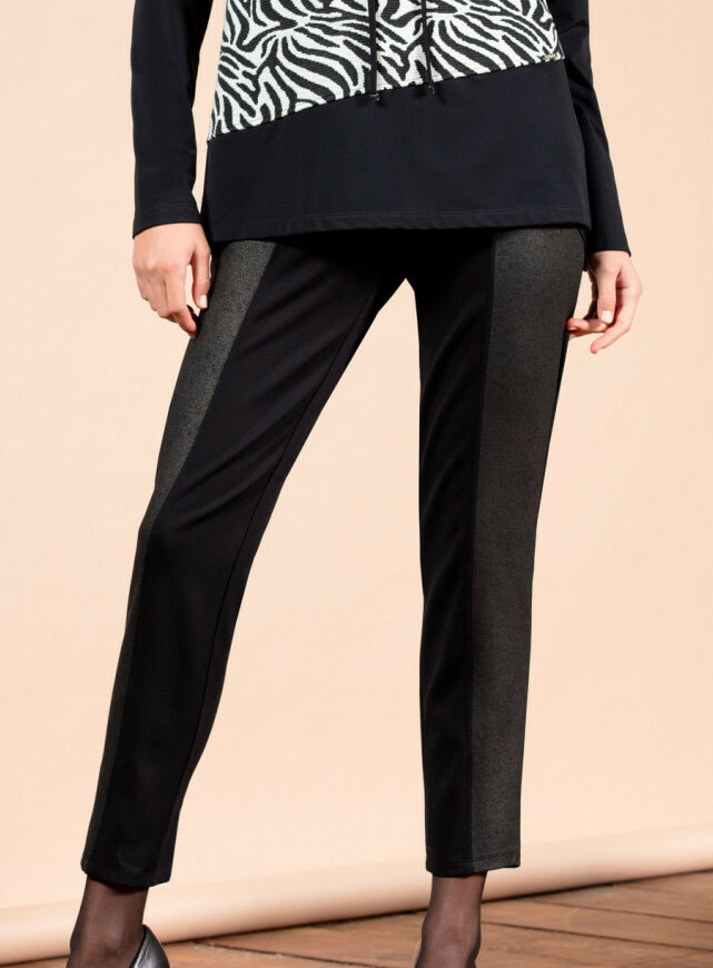 Maloka: Black On Black Vegan Leather Ponte De Roma Pants (More Colors!)