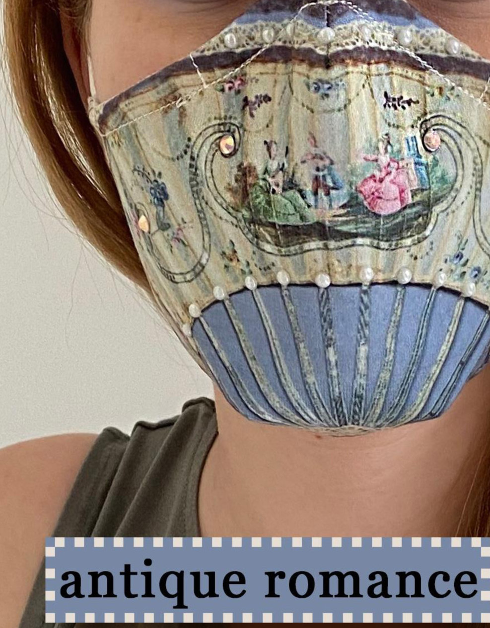 IPNG: Antique Romance Art Protective Mask (Ships Immed!)