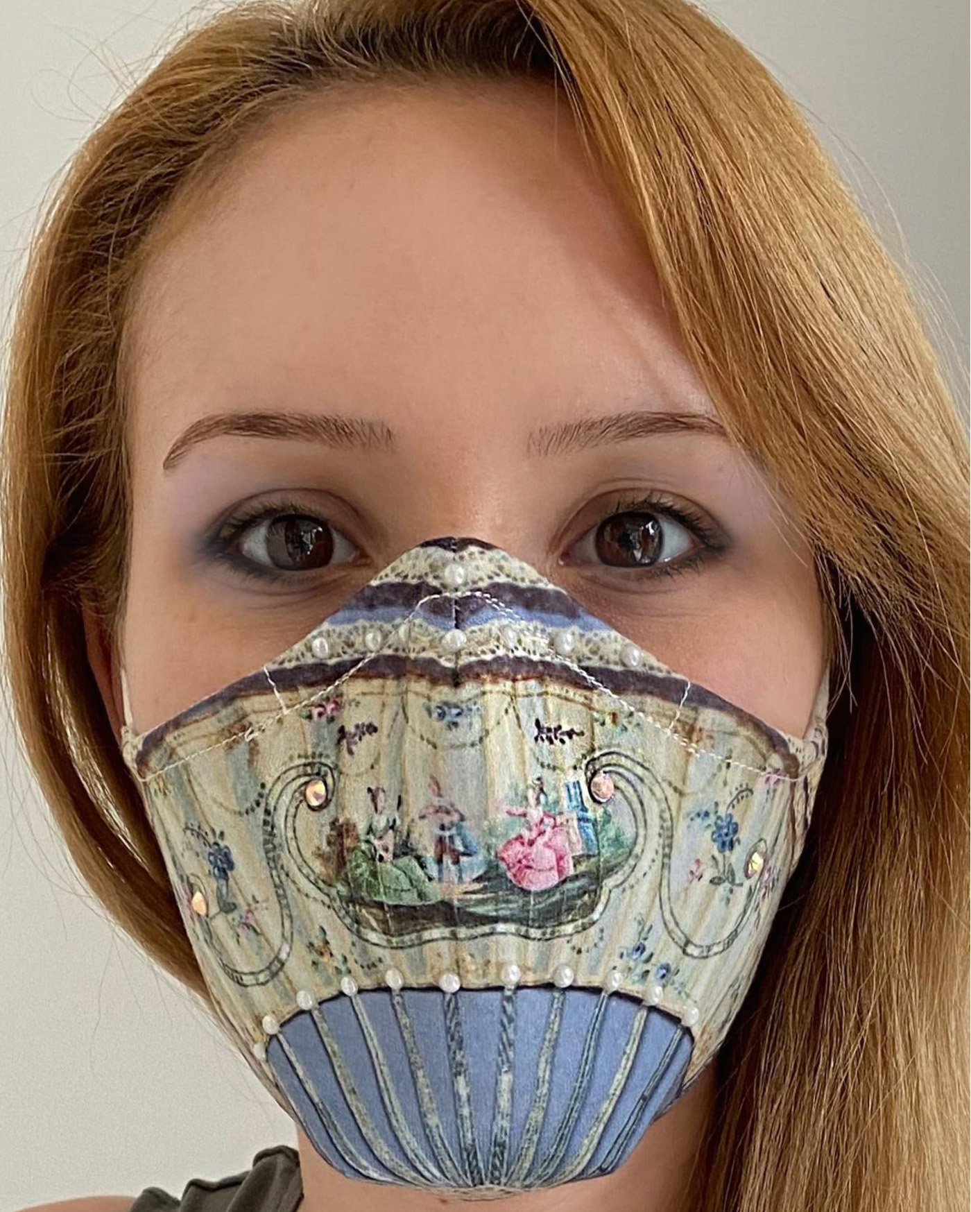 IPNG: Antique Romance Art Protective Mask (Ships Immed!) IPNG_M17_MASK