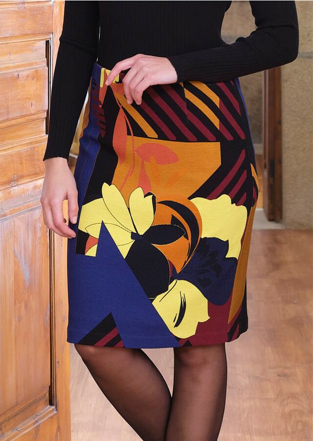 Paul Brial: Mansion Inspiration Abstract Art Skirt PB_PARALLELE