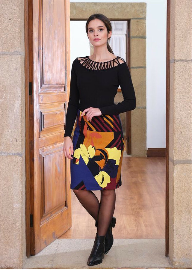 Paul Brial: Mansion Inspiration Abstract Art Skirt
