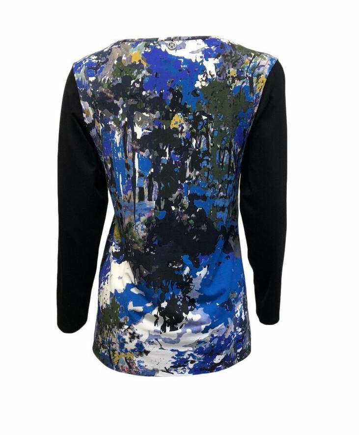 Maloka: Blue Beauty Abstract Art Tunic
