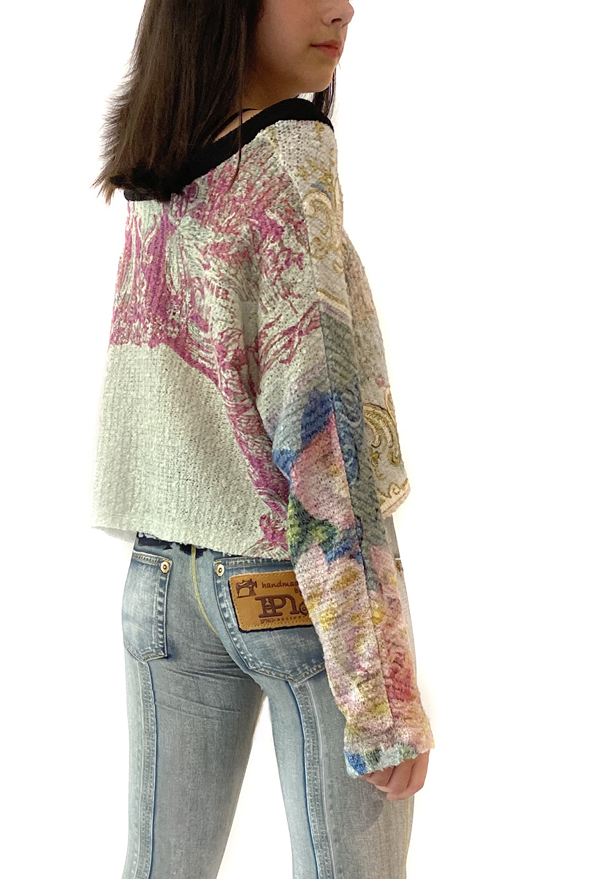 IPNG: Label Longings Pink Rose Cupid Flared Sweater