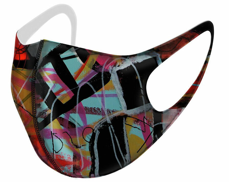 Simply Art Dolcezza: Red 3 Graffiti Abstract Art Mask Dolcezza_simply_art_2004_mask
