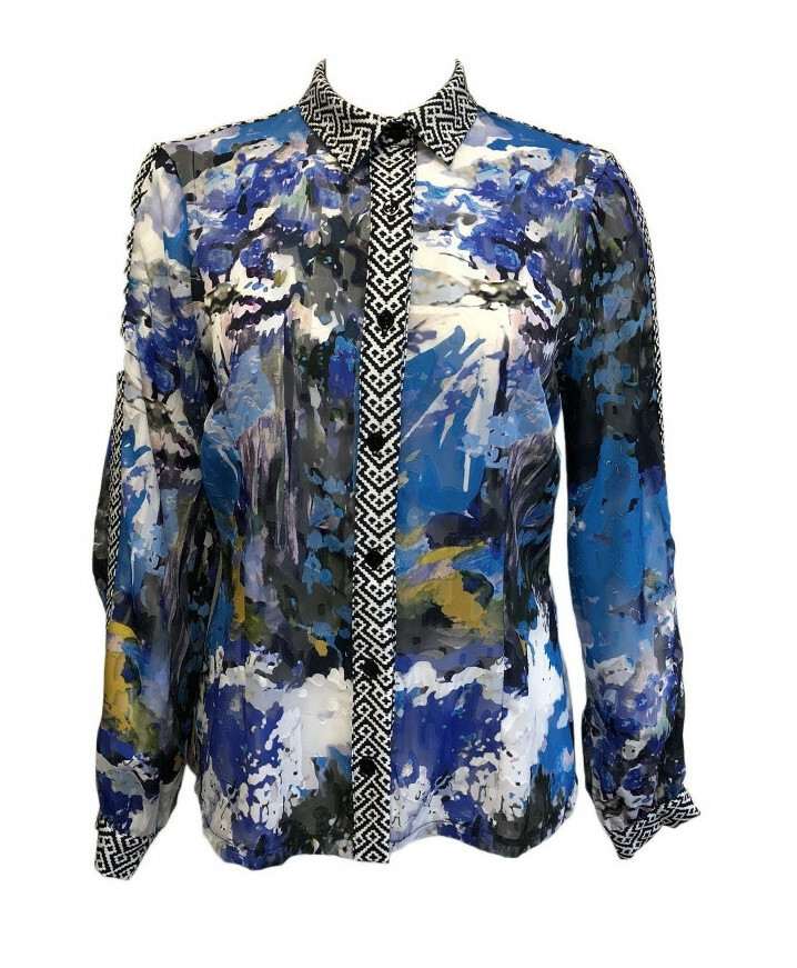 Maloka: Blue Beauty Buttoned Down Shirt (More Colors!) MK_BRETTA
