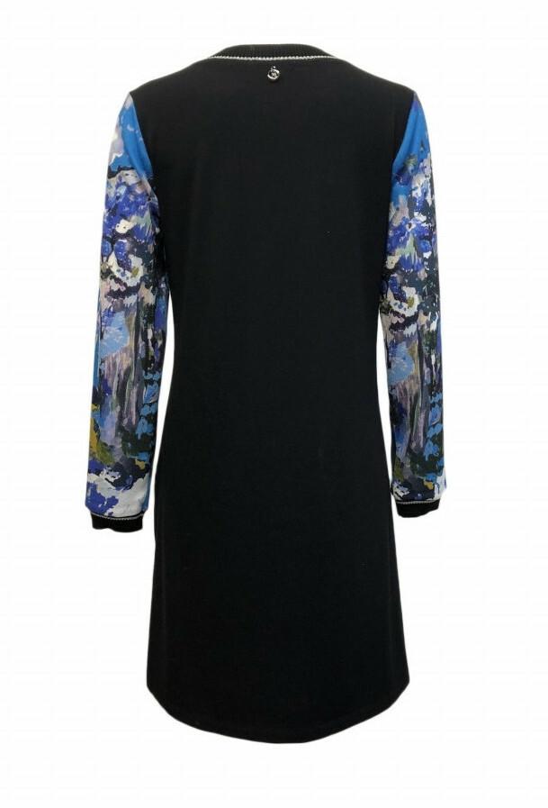 Maloka: Blue Beauty Abstract Art Sweater Dress/Tunic