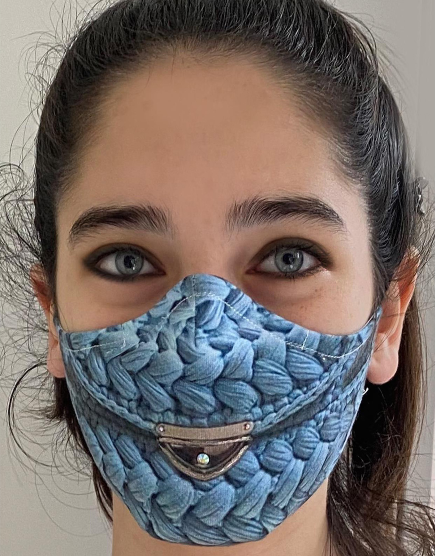 IPNG: In My Purse Knit Illusion Protective Mask (Ships Immed!) IPNG_M19_MASK