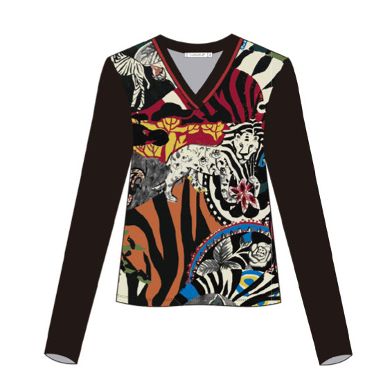 Maloka: Tiger Abstract Art T-Shirt