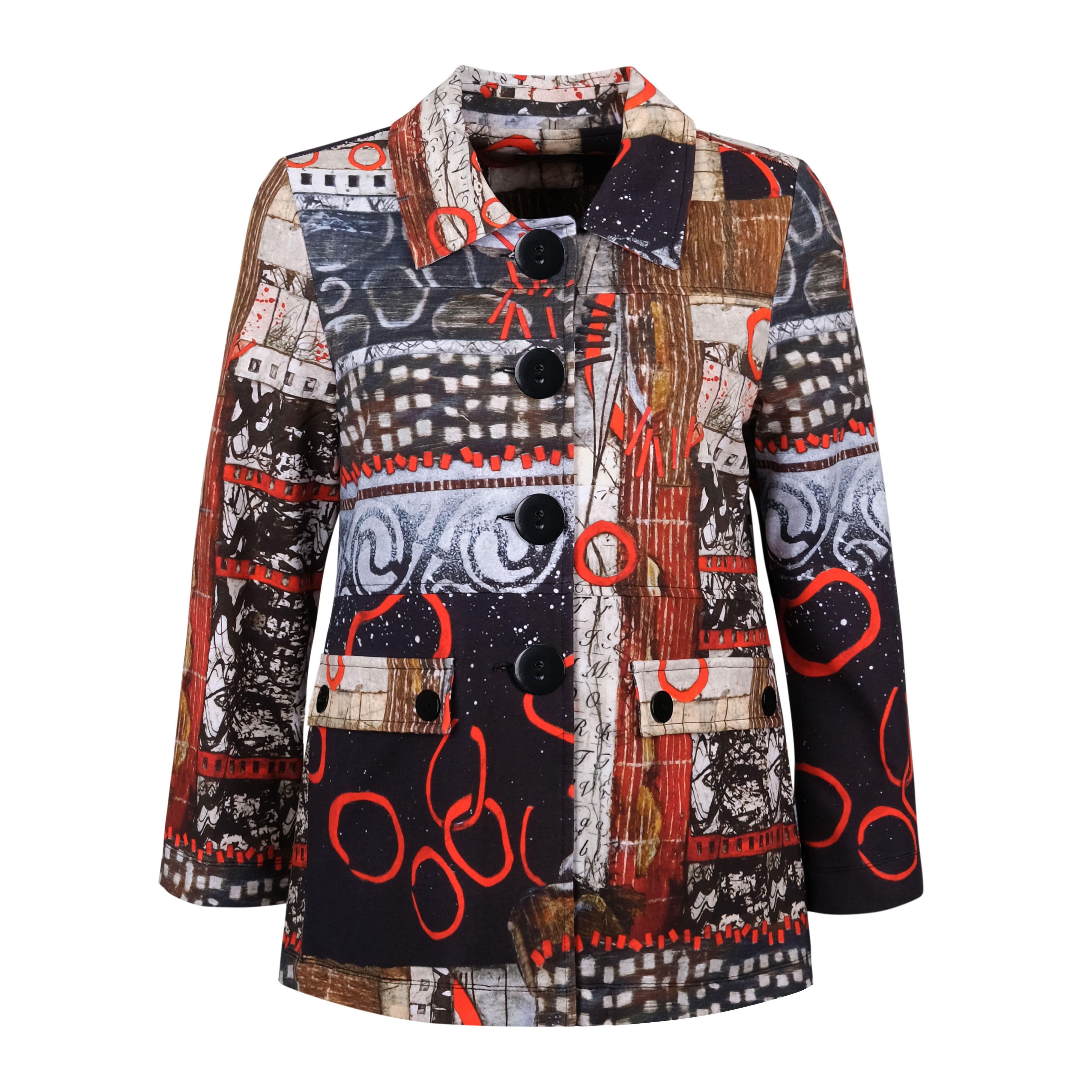 Simply Art Dolcezza: Rising Up In Color Soft Denim Flared Art Jacket (1 Available at Special Price!) Dolcezza_SimplyArt_70716