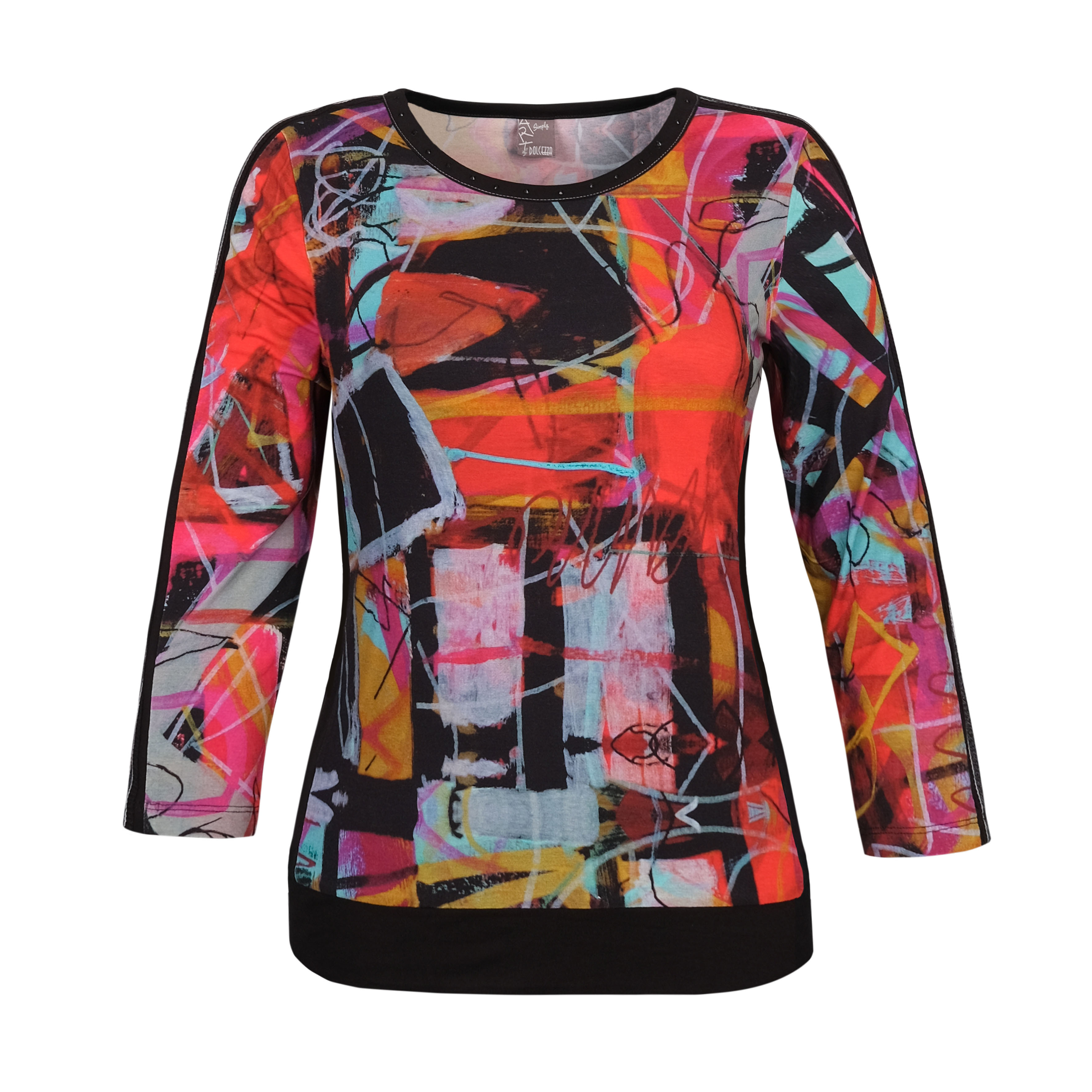 Simply Art Dolcezza: Red 3 Graffiti Abstract Art T-Shirt Dolcezza_SimplyArt_70621