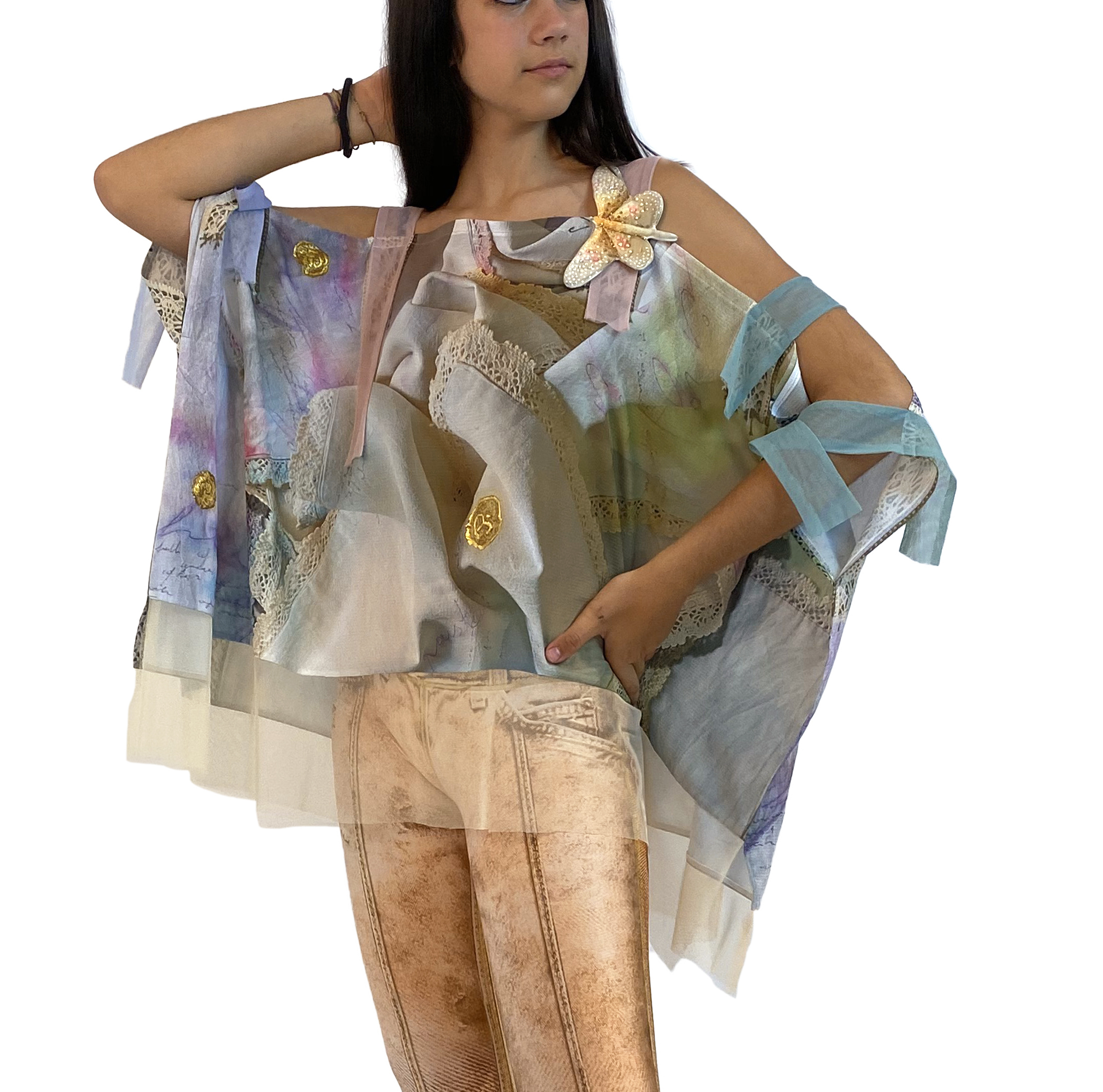 IPNG: Never Enough Color Comfort Shawl Blouse IPNG_NECSB-033