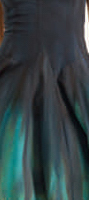 Luna Luz: Enchanting Feather Tied and Dyed Dress (Ships Immed in Black/Emerald!)