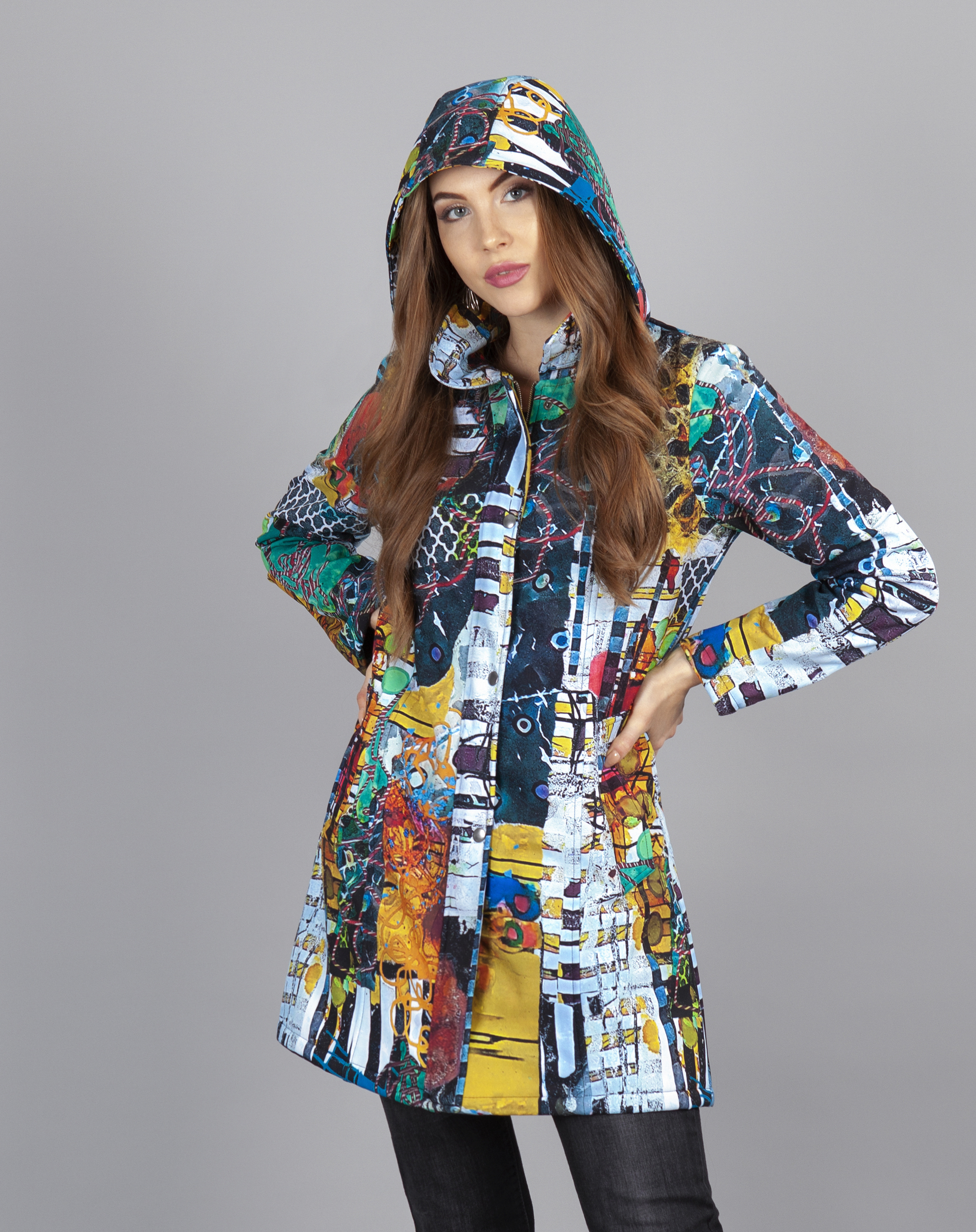Simply Art Dolcezza: Colors Of Flight Aviary Abstract Art Soft Shell Coat (2 Left!) Dolcezza_Simplyart_70883