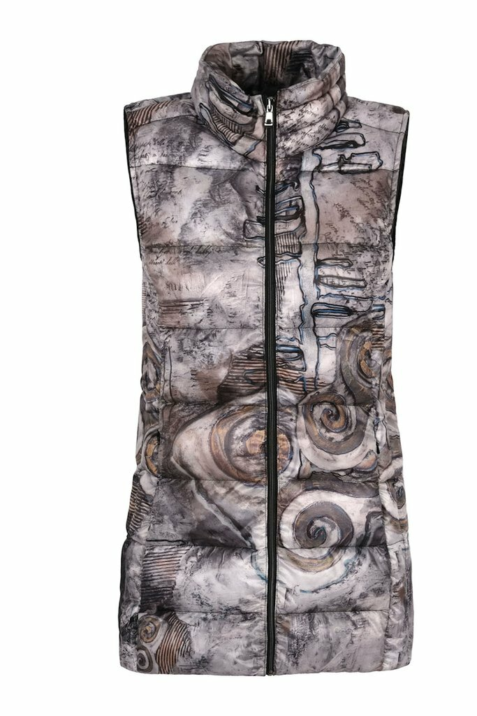 Simply Art Dolcezza: Always In Motion Abstract Art Long Vest Dolcezza_simplyart_70802