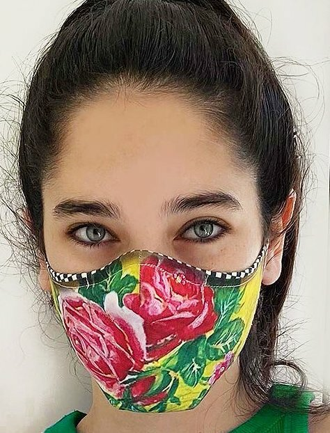 IPNG: Rosalia Rhinestones Art Protective Mask (Ships Immed!) IPNG_ROSALIA_MASK_M27