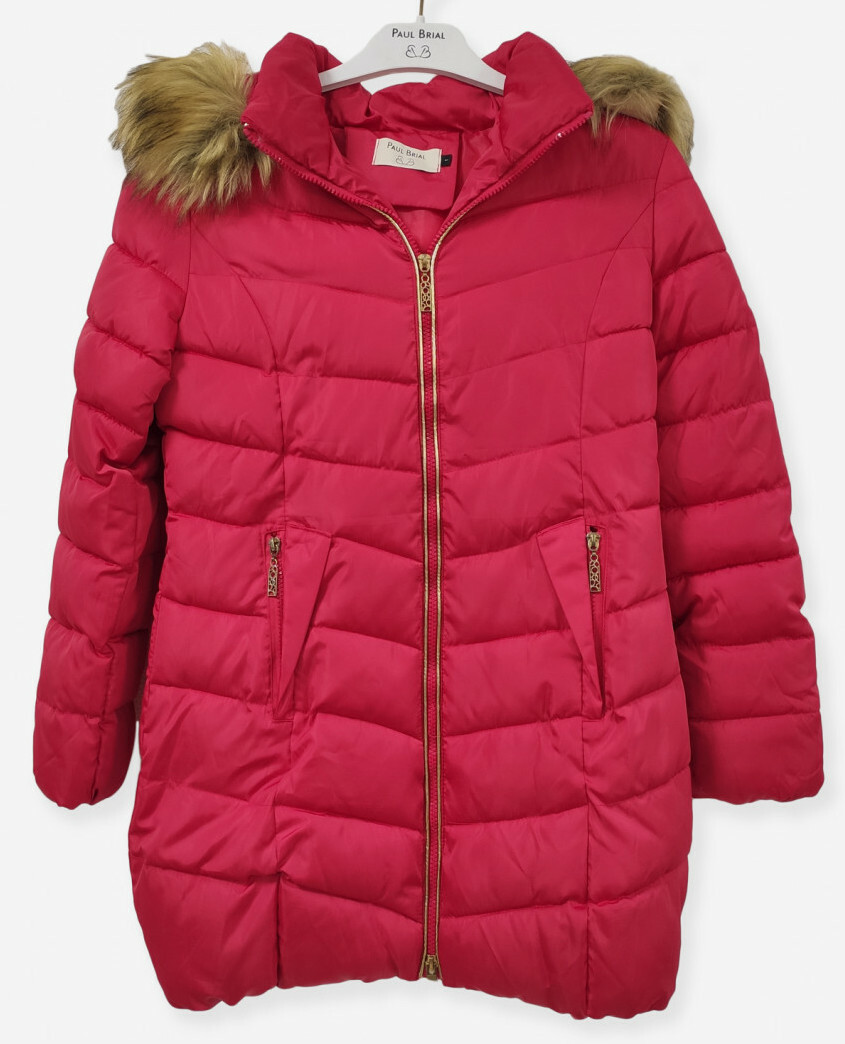 Paul Brial: Carmen In Red Asymmetrical Plush Parka (More Colors!) PB_CARMIN