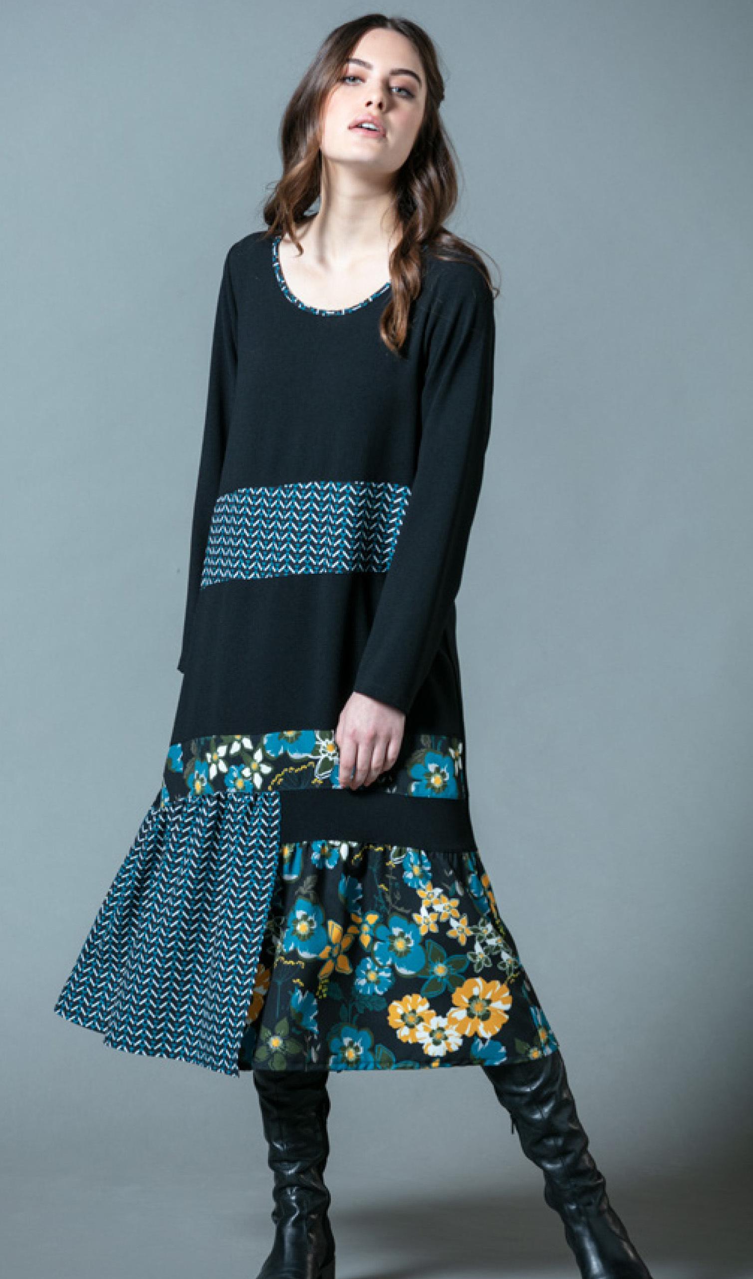 G!oze: Aqua Anastasia Floral Patched Dress G_EVIDENCE
