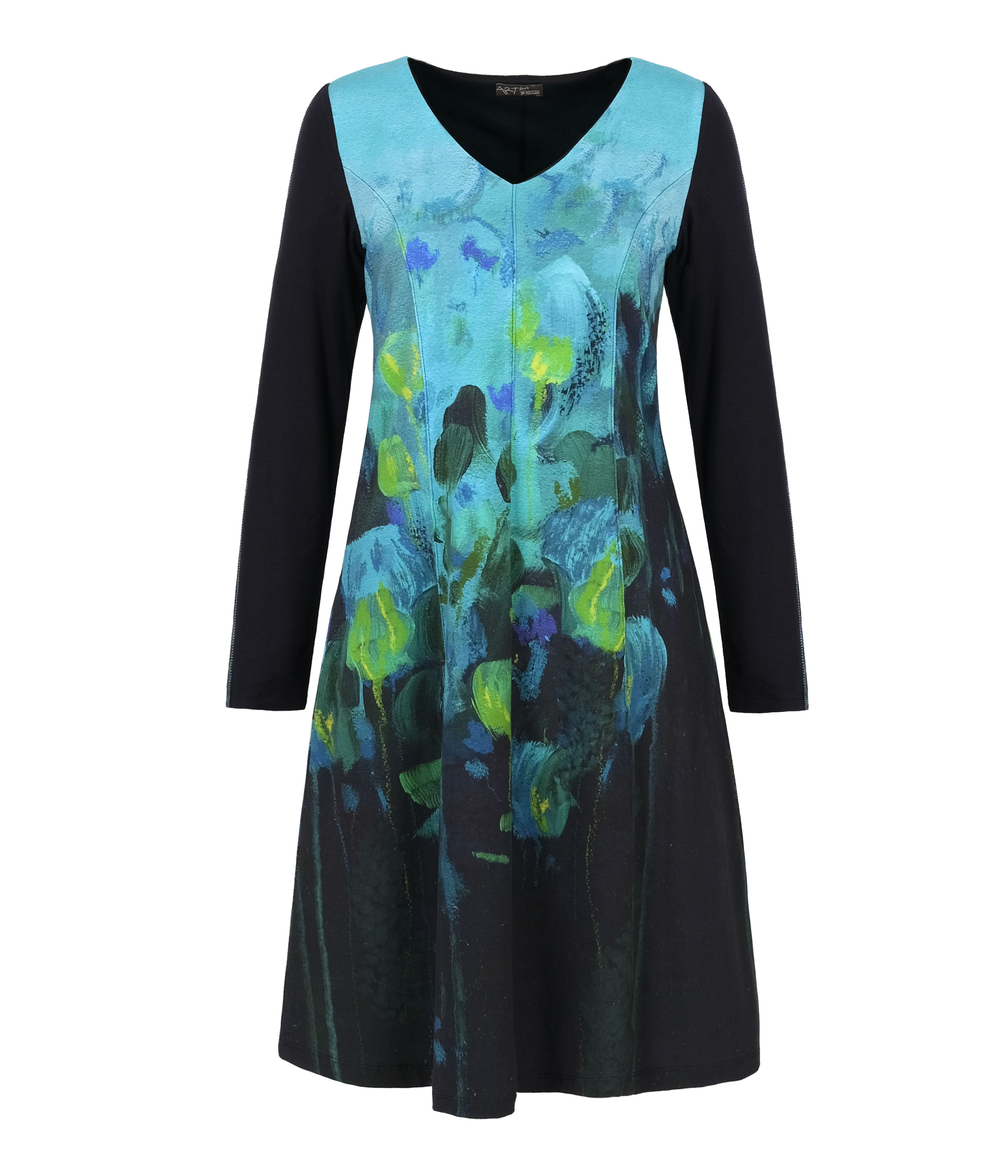 Simply Art Dolcezza: Fantaisie Floralge Abstract Art Flare Dress (1 Available at Special Price!) Dolcezza_SimplyArt_70635