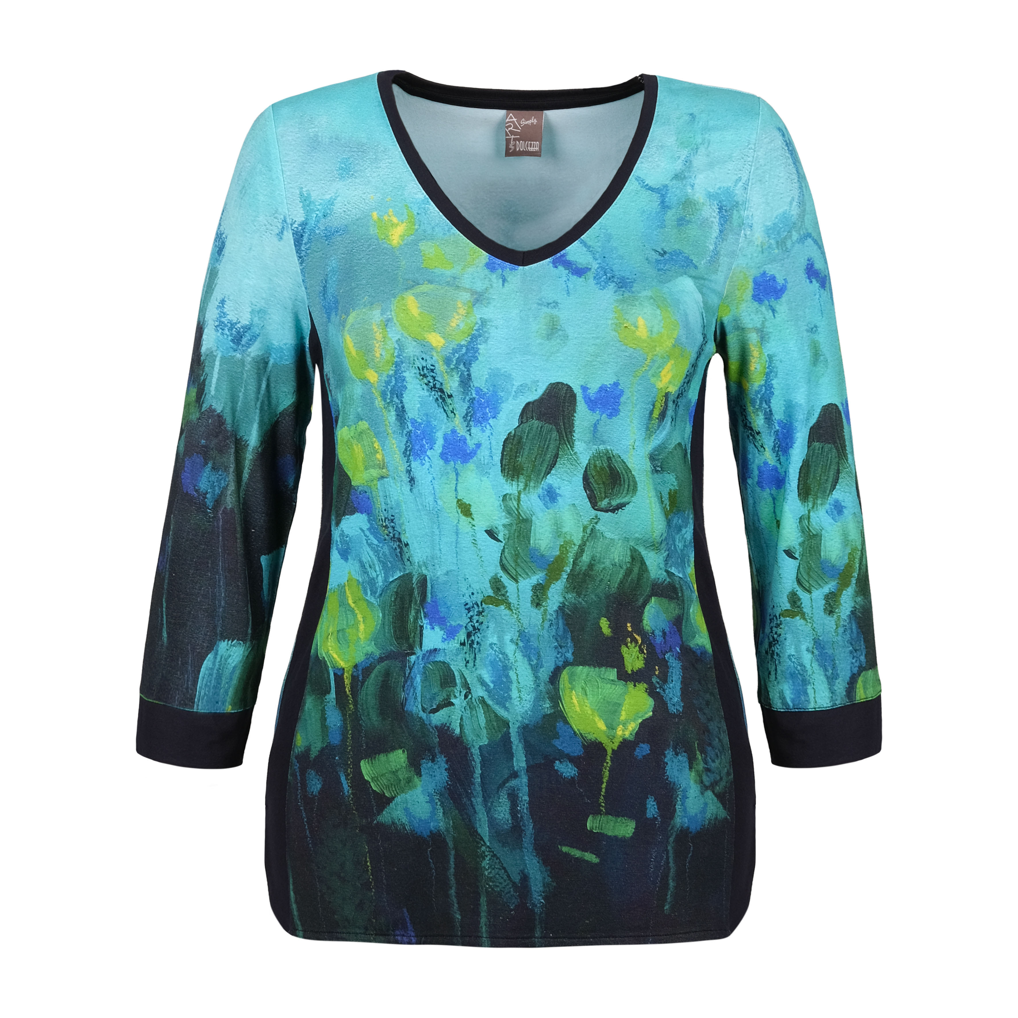 Simply Art Dolcezza: Fantaisie Floralge Abstract Art T-Shirt (1 Available at a Special Price!) Dolcezza_SimplyArt_70632