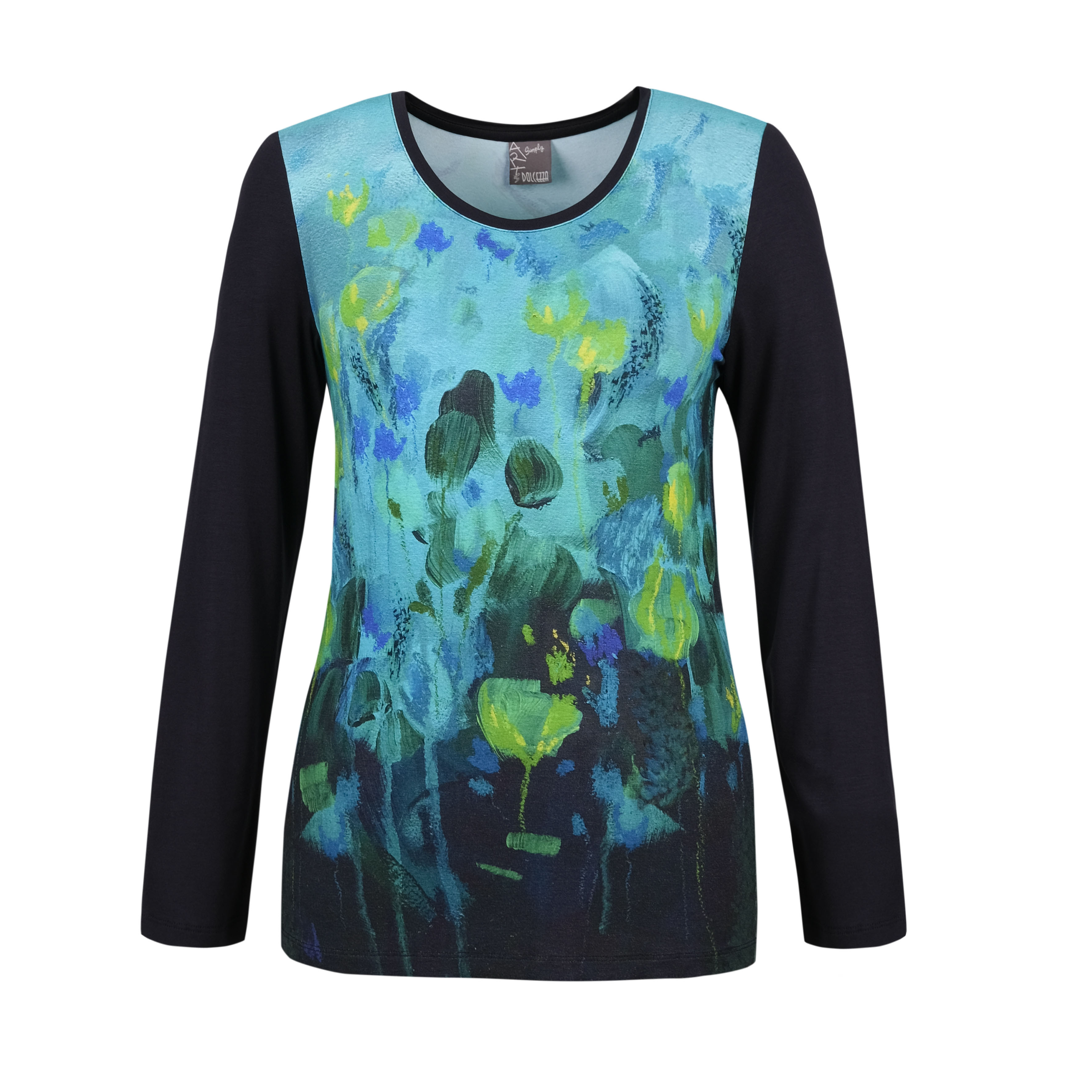 Simply Art Dolcezza: Fantaisie Floralge Abstract Art Top (1 Available at a Special Price!) Dolcezza_SimplyArt_70630