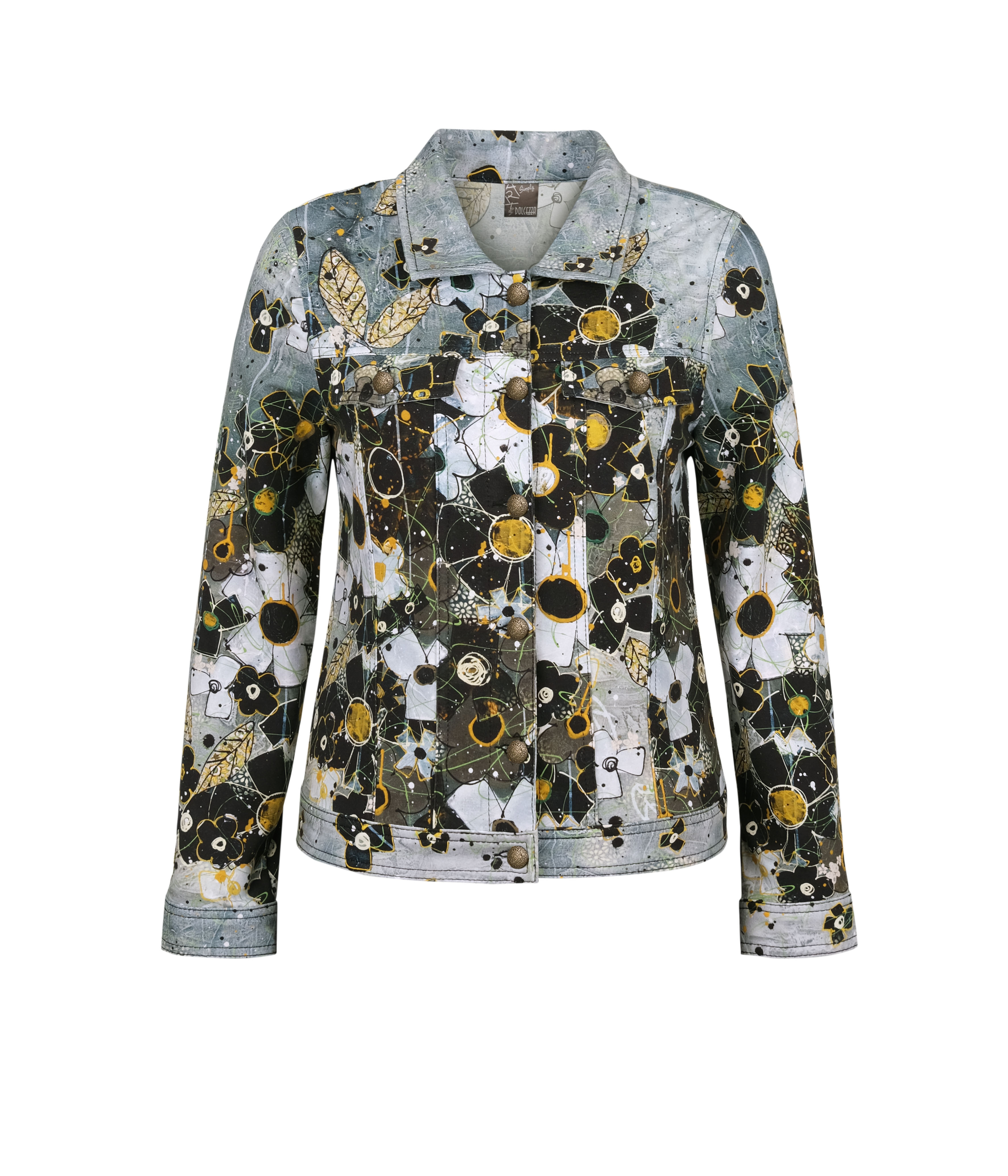 Simply Art Dolcezza: I Am Taking You Home Tonight Abstract Art Soft Denim Jacket (1 Available at Special Price!)