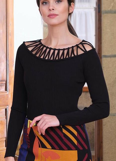 Paul Brial: Cutout Neck Sweater PB_TATIANA