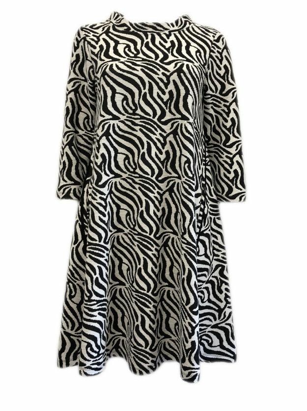 Maloka: Zebra Safari Sweater Dress